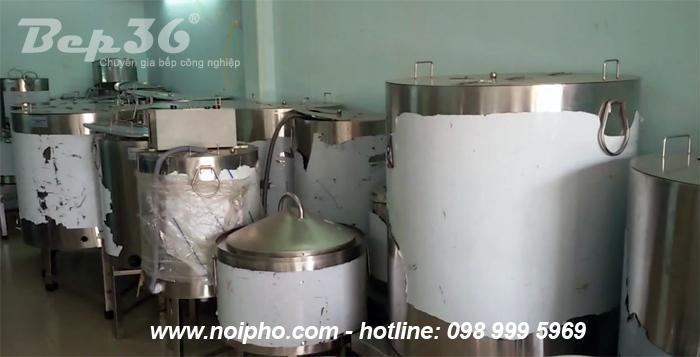 Sản phẩm nồi nấu phở inox thanh nhiệt đang chuẩn bị giao cho khách hàng