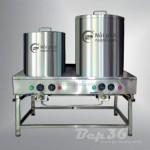 Sử dụng nồi nấu phở trong khâu chế biến nước dùng
