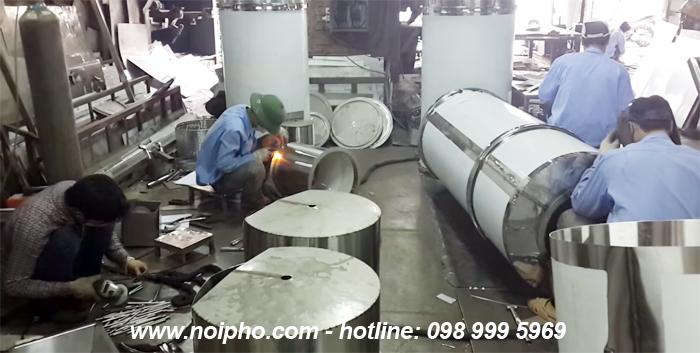 Xưởng sản xuất nồi nấu phở inox thanh nhiệt