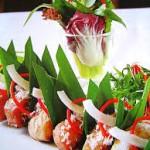 Lạ miệng với món cá tầm nướng lá dừa