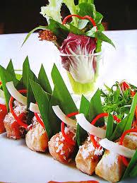Cá tầm nướng lá dừa