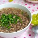 Nấu cháo thịt bò cực nhanh cho bữa sáng