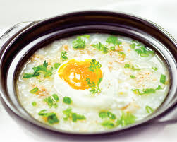 Cháo trứng thịt bằm