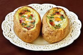 Khoai tây nhồi trứng nướng