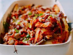 Kim chi nướng pho mát, khoai tây