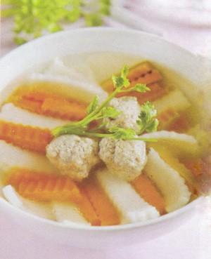 Canh bí đỏ nấu dừa