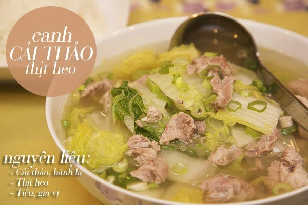 Canh cải thảo