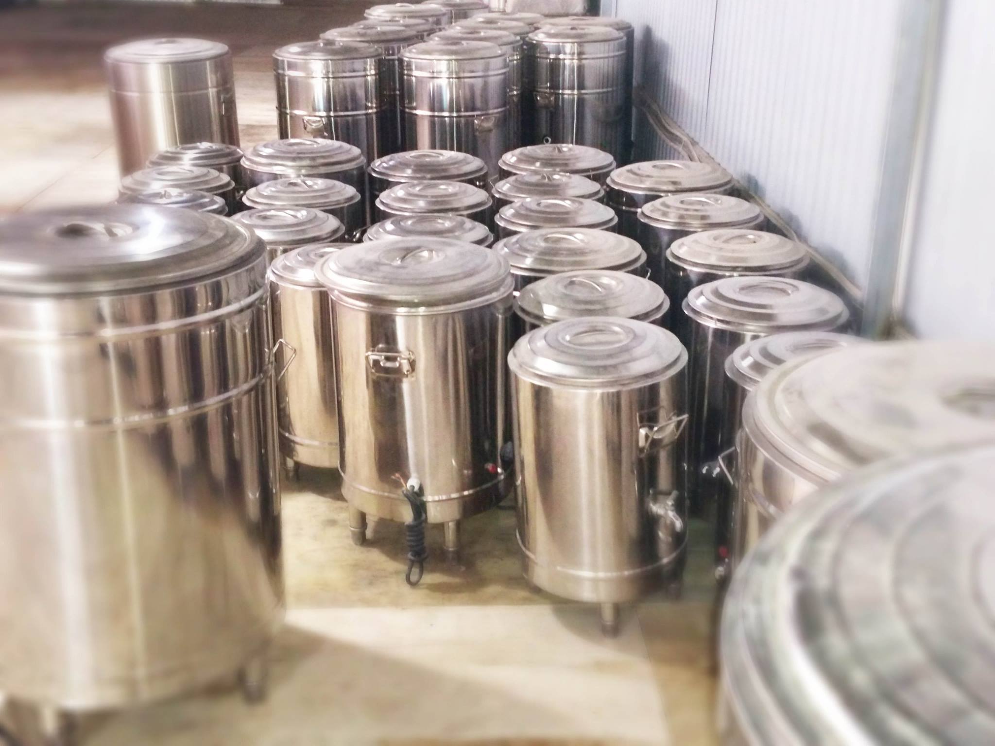 Một số loại nồi nấu phở dung tích khác trong bộ nồi phở inox chất lượng cao của Bếp 36: nồi 20 lít, 30 lít, 50 lít, 70 lít...