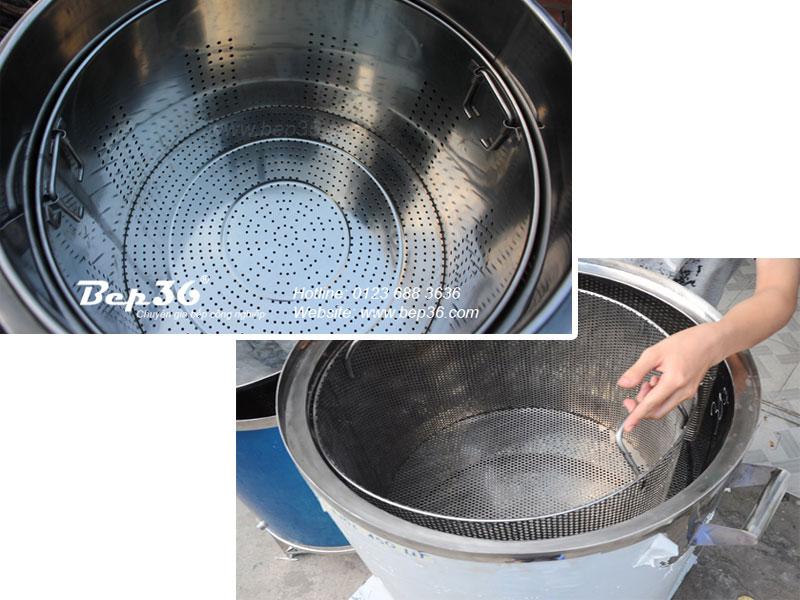 Giỏ hầm xương - hấp thực phẩm nồi nấu phở Bep36
