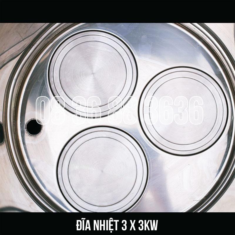 Đĩa nhiệt (mâm nhiệt) được sử dụng trên các loại nồi điện nấu phở Bep36