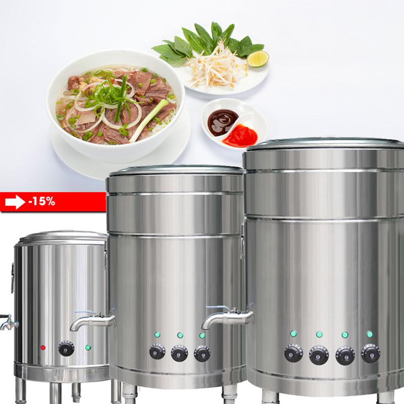 Bộ nồi nấu phở 30 - 100 - 160 lít được ưa chuộng nhất 2019